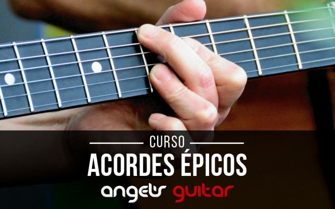 Acordes con extensiones y alteraciones para guitarra